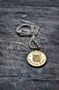 Image of Vintage Medallion and Silver Chain