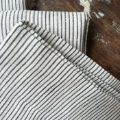 Image of Pinstripe Linen Pillowcases
