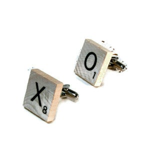 Image of The Personalized Scrabble Cufflink