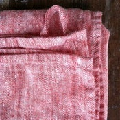 Image of Red Chambray Bath Towel