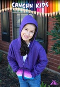 Image of CancunKids Hoodie (Purple with Zarape)