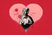 Image of Wolfman Valentine (Original Giclee Fine Art Print)