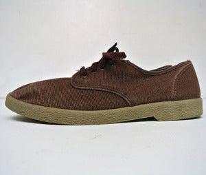 Image of Vintage 1960s Hopsack Canvas shoes (Size 41)