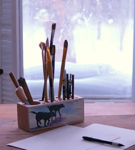 Image of Waverunners, black labs Desk Caddy