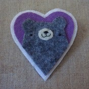 Image of charcoal pudgy bear heart