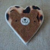 Image of leopard pudgy bear heart