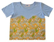 Image of Flower T with Bust Line (blue)