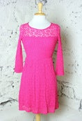 Image of Electric Pink Lace Dress
