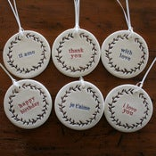 Image of wreath ornament/tags