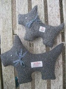 Image of Harris Tweed Scottie Dog (Large and Medium)