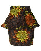 Image of Fair Trade Floral Print Peplum Skirt