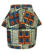 Image of Fair Trade African Print Peplum Skirt