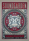 Image of SOLD OUT - Soundgarden - Vancouver - Silkscreen Poster - Brown Card Varient