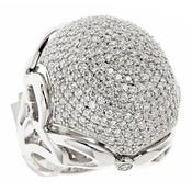 "Image of "" New "" Kara Ackerman <i> Talulah <i/> Pave Dome Cocktail Ring in Rhodium"