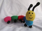 Image of Fair Trade Knit Caterpillar 100% cotton
