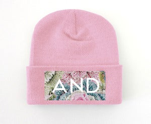 Image of Pastel Coral AND Beanie
