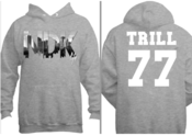 Image of NDK Trill 77 Hoody (Grey) / Inspired By Pyrex Vision / 50 Made