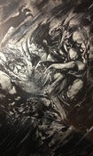 Image of SOLD Wolverine Vs. Sabretooth Original Ink Drawing 11x17