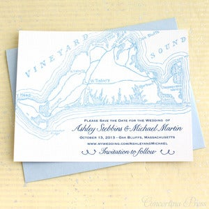 Image of Martha's Vineyard Save the Date - Light Blue