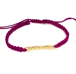 Image of Coordinate Bar Friendship Bracelet