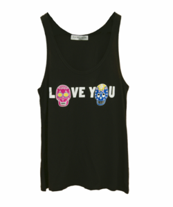 Image of LOVE YOU BLACK TANK