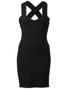 Image of BLACK CRISSCROSS DRESS
