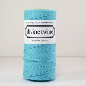 Image of Aqua Blue Solid Divine Twine