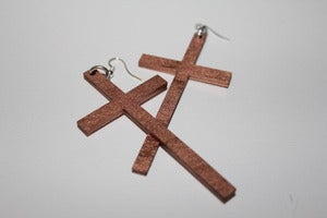 Image of SMALL CROSSES - Rose Gold
