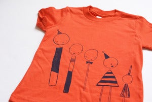 Image of Orange Line-Up T-Shirt