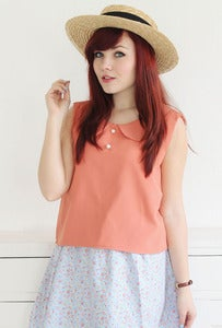 Image of Chloe Salmon Pink Top