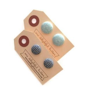 Image of Little Dot Button Earrings