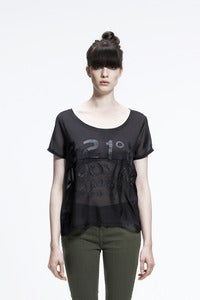 Image of SS2013: Mixed materials T-shirt- NEW CAVOUR