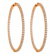 "Image of "" New "" Kara Ackerman <i> Talulah <i/> Common Prong Skinny Hoops in Rose"