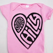 Image of South Philly Love, Short Sleeve One-Piece (Pink)