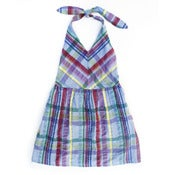 Image of Plaid Halter Dress