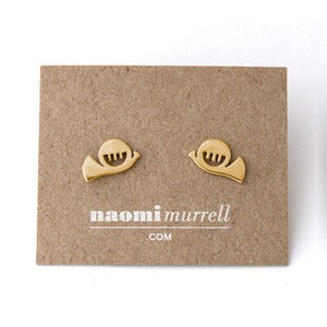 Image of French Horn Studs | Golden {25% OFF + FREE SHIPPING}