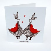 Image of Love Bird Greetings Card