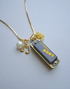 Image of Make A Song & Dance - Working Harmonica Necklace