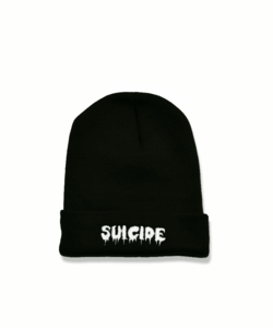 Image of BLACK SUICIDE BEANIE