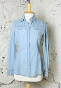 Image of Love Stitch Western Wonder Chambray Shirt