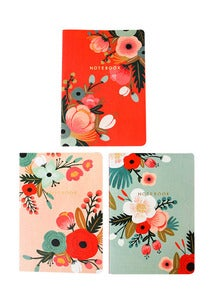 Image of Botanical Notebooks - Set of 3