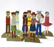 Image of Cut Out and Dress Peg-Doll Greetings Cards