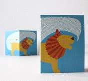 Image of Happy Birthday Lion Mini-Card