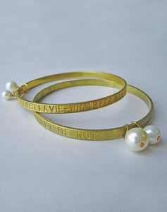 Image of Always The Optimist Vintage C'est La Vie/ Forget Me Not Bracelet