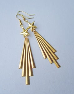 Image of Blazing Your Trail Comet Earrings