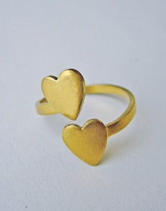 Image of Two Hearts - Double Heart Ring