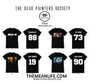Image of DEAD PAINTERS SOCIETY x MEAN CLOTHING ALTERNATE WORDS PACKAGE (4 SHIRTS)