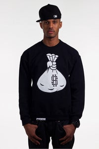 Image of The SH Money Bag Crew Neck in Black