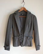 Image of lovely bow grey blazer