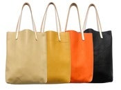 Image of Colorblock Leather Tote